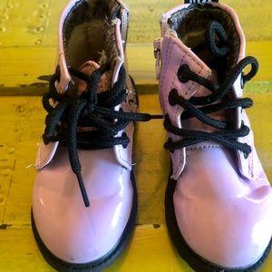 Pink combat boots - Toddler 5